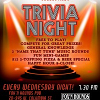 Wednesday Night Trivia at Fox'N Hounds Pub