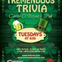 Tremendous Trivia Tuesdays at Carlos O'Bryan's